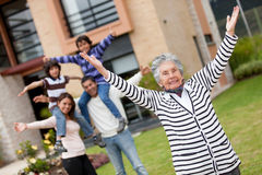 Happy grandmother Royalty Free Stock Photography