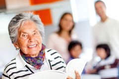 Happy grandmother Stock Photo