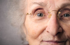 Happy grandmother. With deep blue eyes Royalty Free Stock Photo