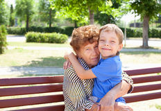 Happy grandmother with grandchild Royalty Free Stock Photo