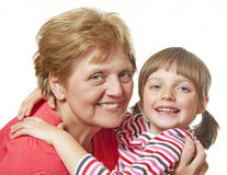 Happy grandmother and granddaughter Royalty Free Stock Photography