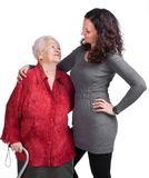 Happy grandmother with granddaughter Stock Photos