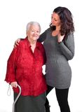 Happy grandmother with granddaughter Stock Image