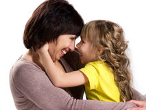 Happy grandmother and granddaughter Stock Photo