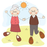 Happy grandmother and grandfather Royalty Free Stock Photo