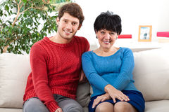 Happy grandmother and grandson Royalty Free Stock Images