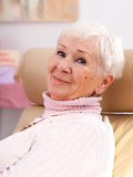 Happy grandmother smiling Stock Photos