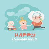 Happy grandmother with their grandchildren Royalty Free Stock Images