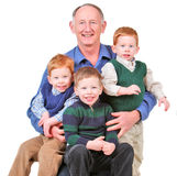 Happy grandpa Royalty Free Stock Photos