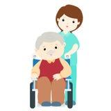 Happy grandpa at nursing home  Royalty Free Stock Images