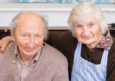 Happy Grandparents. Old happy grandparents staying together Royalty Free Stock Photos