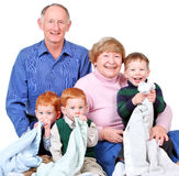 Happy grandparents royalty free stock image