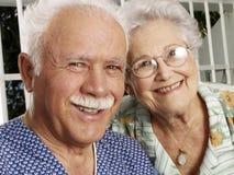 Happy grandparents. stock images