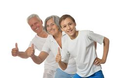 Happy Grandparents with boy Stock Photography