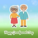 Happy Grandparents day card. Vector illustration. Stock Photo