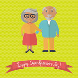 Happy Grandparents day card. Vector illustration. Stock Photo
