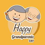Happy grandparents day Stock Images