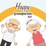 Happy grandparents day Royalty Free Stock Photos