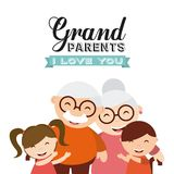 Happy grandparents day Royalty Free Stock Photography