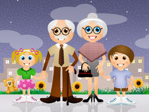 Happy grandparents day Stock Image