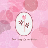 Happy Grandparents day. `For my Grandma`. Vintage Happy Grandmother Card. Stock Photo