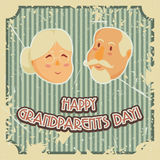 Happy grandparents day poster. Stock Photos