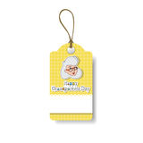 Happy Grandparents Day Shopping Tag Holiday Sale Icon Discount Royalty Free Stock Image