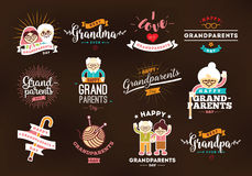 Happy Grandparents day Royalty Free Stock Images