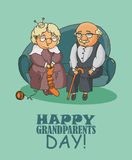 Happy grandparents day Royalty Free Stock Photos