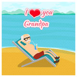 Happy grandparents day vector poster concept. I Stock Photo