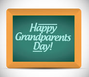 Happy grandparents day written message Stock Photography