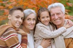 Happy grandparents and grandchildren. Family portrait of happy grandparents and grandchildren stock images