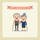 Happy grandparents. Stock Image