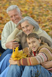 Happy grandparents with grandson Stock Photo