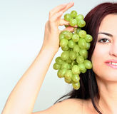 Happy grapes Stock Image