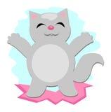 Happy Gray Cat Royalty Free Stock Image
