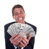 Happy Greedy Man Stock Photography