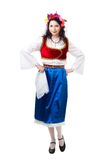 Happy Greek dancer Stock Photo
