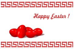 Happy greek Easter - cdr format royalty free stock images