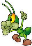 Happy Green Bug - standing Stock Photography