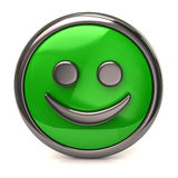 Happy green button Stock Photography