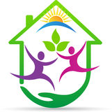 Happy green care. A vector drawing represents happy green care design royalty free illustration