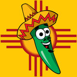 A Happy Green Chili vector illustration