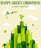 Happy green Christmas Stock Photos