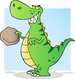 Happy green dinosaur Royalty Free Stock Photography