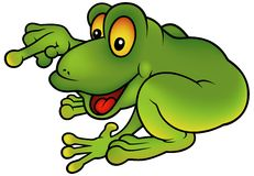 Happy Green Frog Stock Image