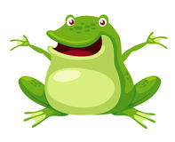 Happy green frog Stock Images