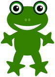 A happy green frog Royalty Free Stock Photography