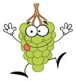 Happy green grape character vector illustration