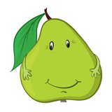 Happy green pear Royalty Free Stock Images